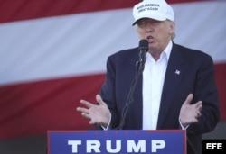 Evento de campaña de Donal Trump ayer en Miami