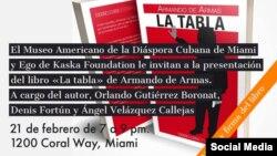 Presentación novela La tabla, de Armando de Armas.