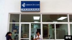 Oficina de correos en Cuba.