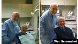Alan Gross junto a su dentista.