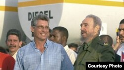 MIguel Díaz-Canel con Fidel Castro (Ahora)