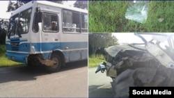 Accidente en la carretera de Velasco a Holguín. (Daniel Ferras/Facebook)
