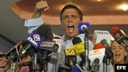 Fotografía de archivo del líder opositor Leopoldo López