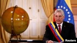 Miguel Díaz-Canel en el Palacio de Miraflores el 30 de mayo de 2018. REUTERS/Marco Bello