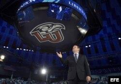 El senador por Texas Ted Cruz durante un acto en la Liberty University de Lynchburg, Virginia, EEUU.