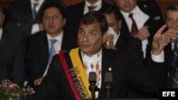 El presidente de Ecuador, Rafael Correa. Foto de archivo