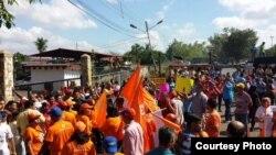 Manifestaciones de opositores venezolanos.