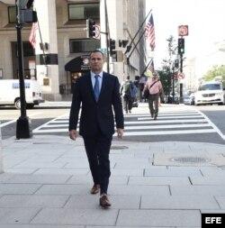 El disidente cubano José Daniel Ferrer camina hoy, miércoles 1 de junio 2016, en Washington, DC (EE.UU.).