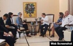 Cancilleres de Cuba y Corea del Sur se reunieron en La Habana.