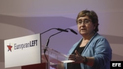 La vicepresidenta del Partido de la Izquierda Europea (PIE), Maite Mola.