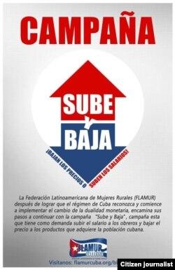 Reporta Cuba Logo de la campaña de FLAMUR