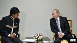 Putin y Morales en Cumbre del Gas en Teherán.