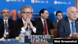Secretario general de la OEA, Luis Almagro, inaugura asamblea en Washington.