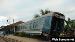 Accidente ferroviario en Sancti Spiritus