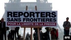 Reporteros Sin Fronteras (RSF). Foto de archivo.