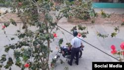 Agente policial cubano con placa Número 06081