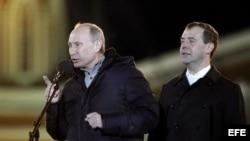 Putin en mítin electoral