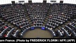 Parlamento Europeo en Strasbourg, Francia. reunido en 2018. FREDERICK FLORIN / AFP