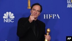 Quentin Tarantino, ganador del Globo de Oro. AP Photo/Chris Pizzello