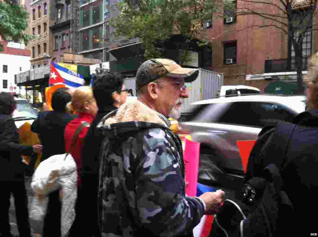 Protesta en New York por la libertad de Sonia Garro/ Cortesía de Carmen María Rodríguez