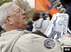 Marcha contra la guerra en Moscú. EFE