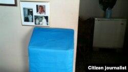 Reporta Cuba. Urna para las votaciones de las Damas de Blanco. Foto: Ángel Moya.