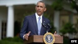 Barack Obama, comparece en rueda de prensa sobre la situación en Ucrania en la Casa Blanca, en Washington, DC,