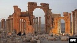 Fotografía de archivo muestra la antigua ciudad de Palmira en Siria.
