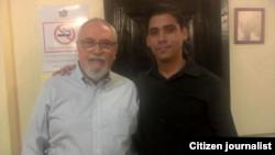 Reporta Cuba. Amel A. Oliva y el dirigente político venezolano Ramón Guillermo Aveledo (d-i).