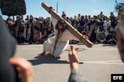Jesucristo sube a los cielos en la Pasión Viviente de Castro Urdiales