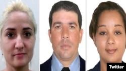 Los tres cubanos desaparecidos en México: Mercedez Díaz, Yuri Torres y Carmen Boza. (Comisión Estatal de Búsqueda Veracruz)