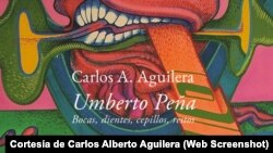 Portade del libro sobre vida y obra del pintor cubano Umberto Peña