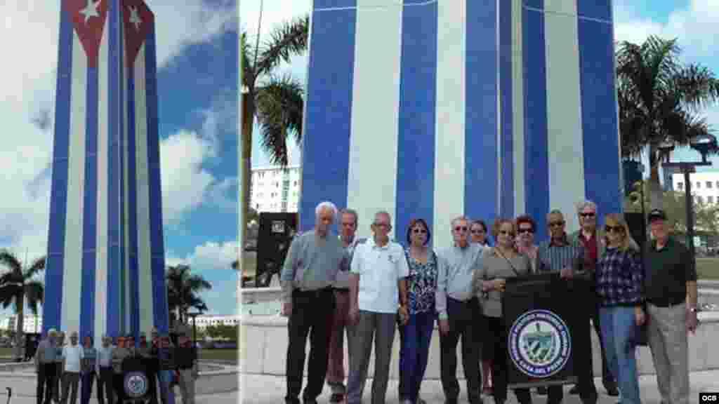Organizaciones del exilio cubano se acercan al Memorial Cubano en su primer aniversario.