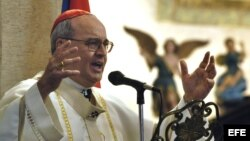 El cardenal cubano Jaime Ortega y Alamino. Foto de archivo.