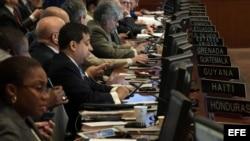 """Sesión del Consejo Permanente de la Organización de Estados Americanos sobre """"la situación"""" en Venezuela."""
