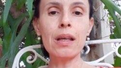 Omara Ruiz Urquiola, una de las activistas desalojadas de la sede del Movimiento San Isidro, en La Habana.