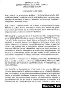 Resolución No. 10/2015 Ministerio de Cultura (1)