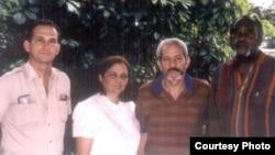 Los autores de La Patria es de Todos en 1997: de izquierda a derecha René Gómez Manzano, Martha Beatriz Roque, Vladimiro Roca y Felix Boinne Carcassés.
