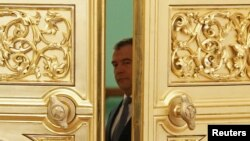 El presidente Medvedev en el Kremlin.