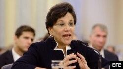Penny Pritzker durante una audiencia celebrada en el Senado. EFE