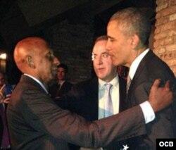 El presidente Obama recibe en Washington al líder opositor cubano Guillermo Fariñas