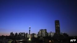 Vista general de Johannesburg.