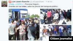 Reporta Cuba Colas en Holguín según @luislazaroguanch