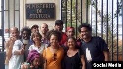 Artistas cubanos convocan en las redes sociales a una sentada pacífica frente al Ministerio de Cultura contra el Decreto 349.