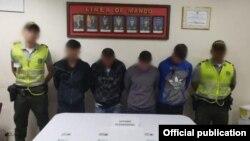 Los cubanos fueron fotografiados por la Policía de San Andrés. Foto Policía Nacional de Colombia.