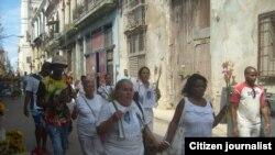 Reporta Cuba. Damas de Blanco. Foto: Facebook de Rosario Morales.