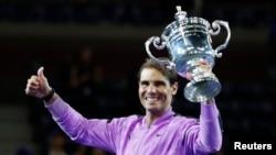 Rafael Nadal celebra su victoria. Geoff Burke-USA TODAY Sports vía Reuters.