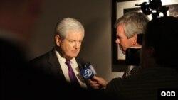 Newt Gingrich en la convención republicana.