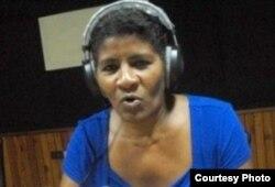 La periodista oficialista Elsa Ramos Ramírez.