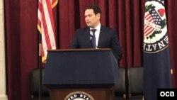 El senador republicano Marco Rubio habla en el evento de la OEA. (Foto: Michelle Sagué)